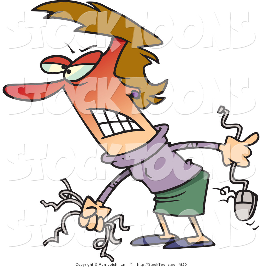 Royalty Free Frustrated Stock Cartoon Designs