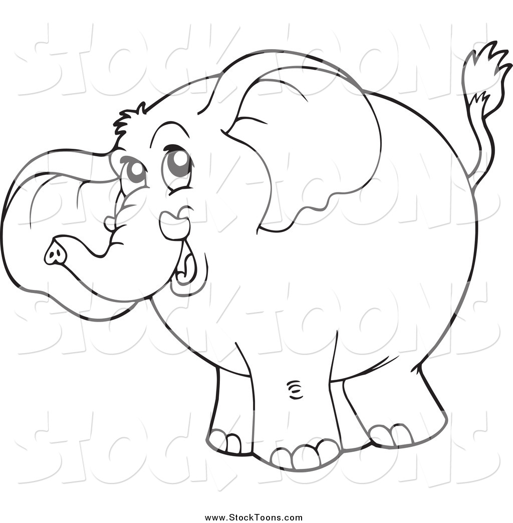 royalty free stock cartoon designs of elephants