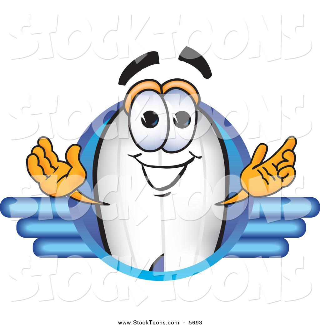 Cartoon Characters Looking Forward : Stock cartoon of a blimp mascot character logo