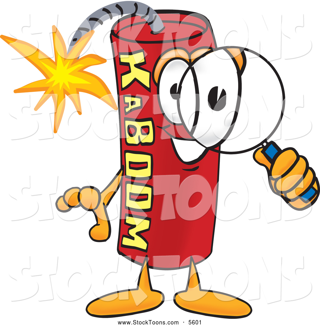 Dynamite Explosion Cartoon Stock Cartoon of a Explosive