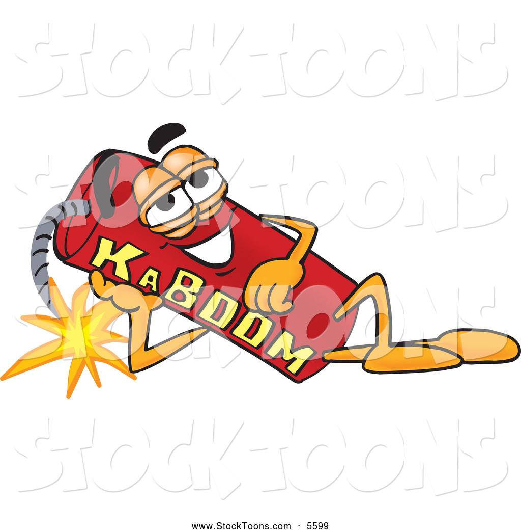 Dynamite Explosion Cartoon Stock Cartoon of a Explosive