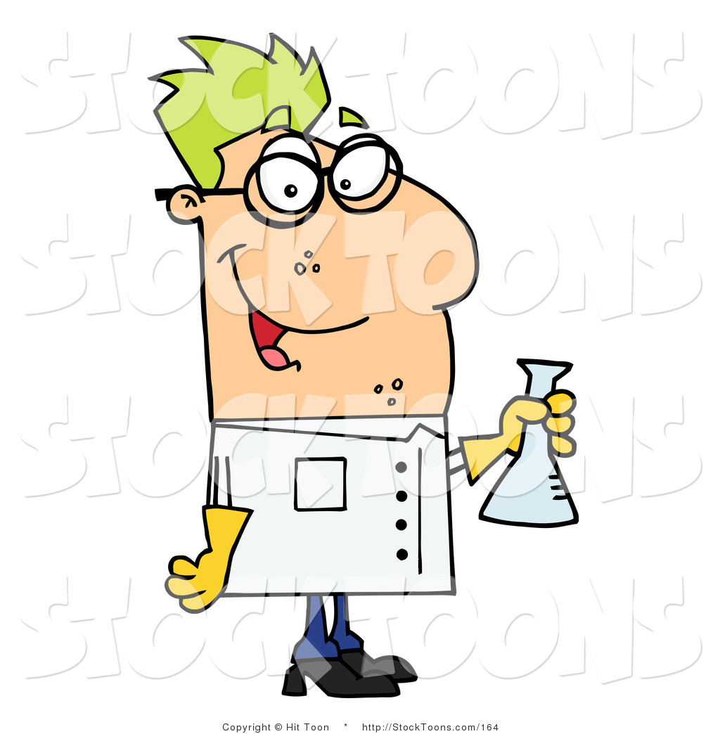 Larger Preview: Stock Cartoon of a Male Caucasian Scientist by Hit ...