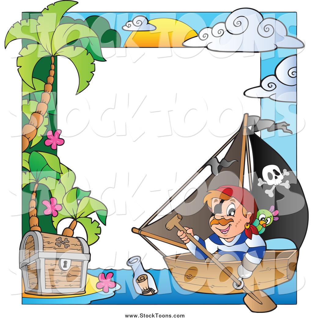 Stock Cartoon of a Pirate Ship