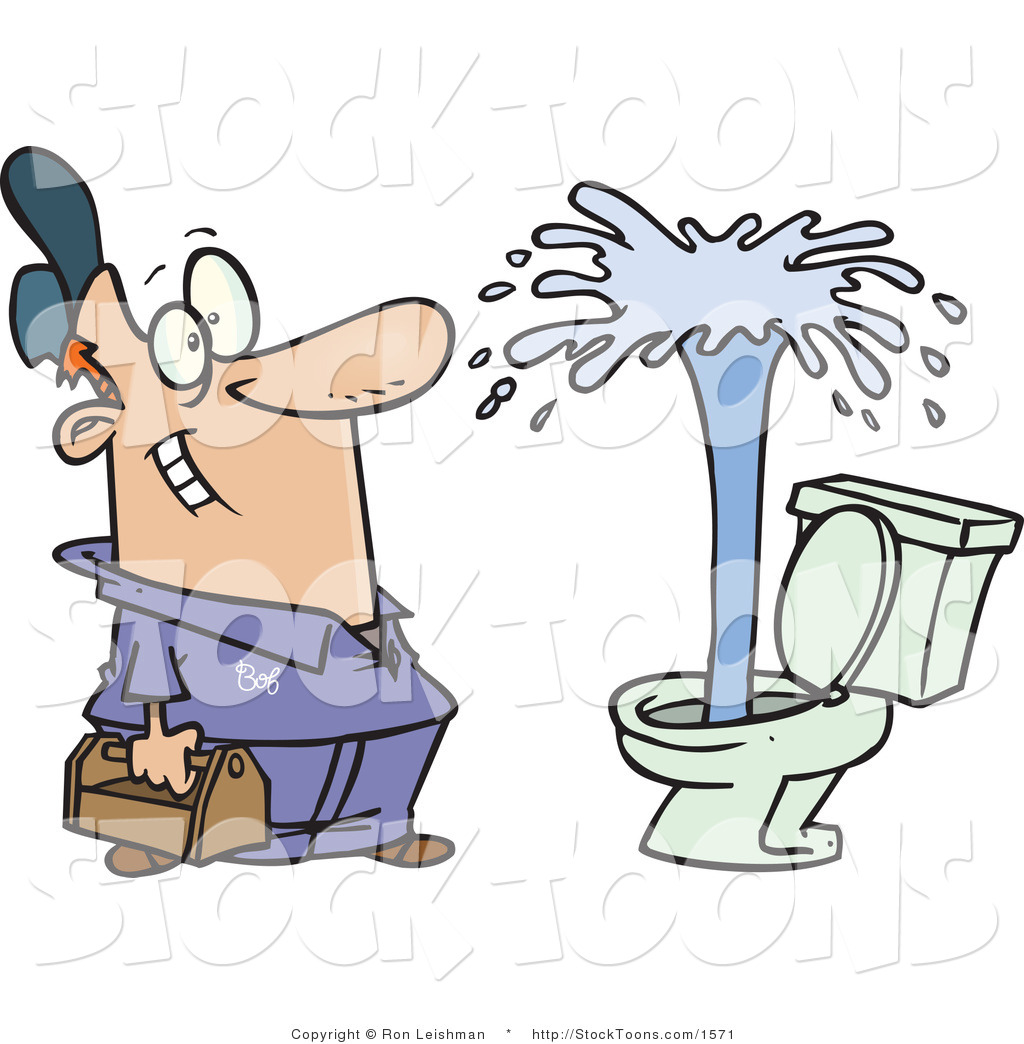 Cartoon Bathroom Toilet