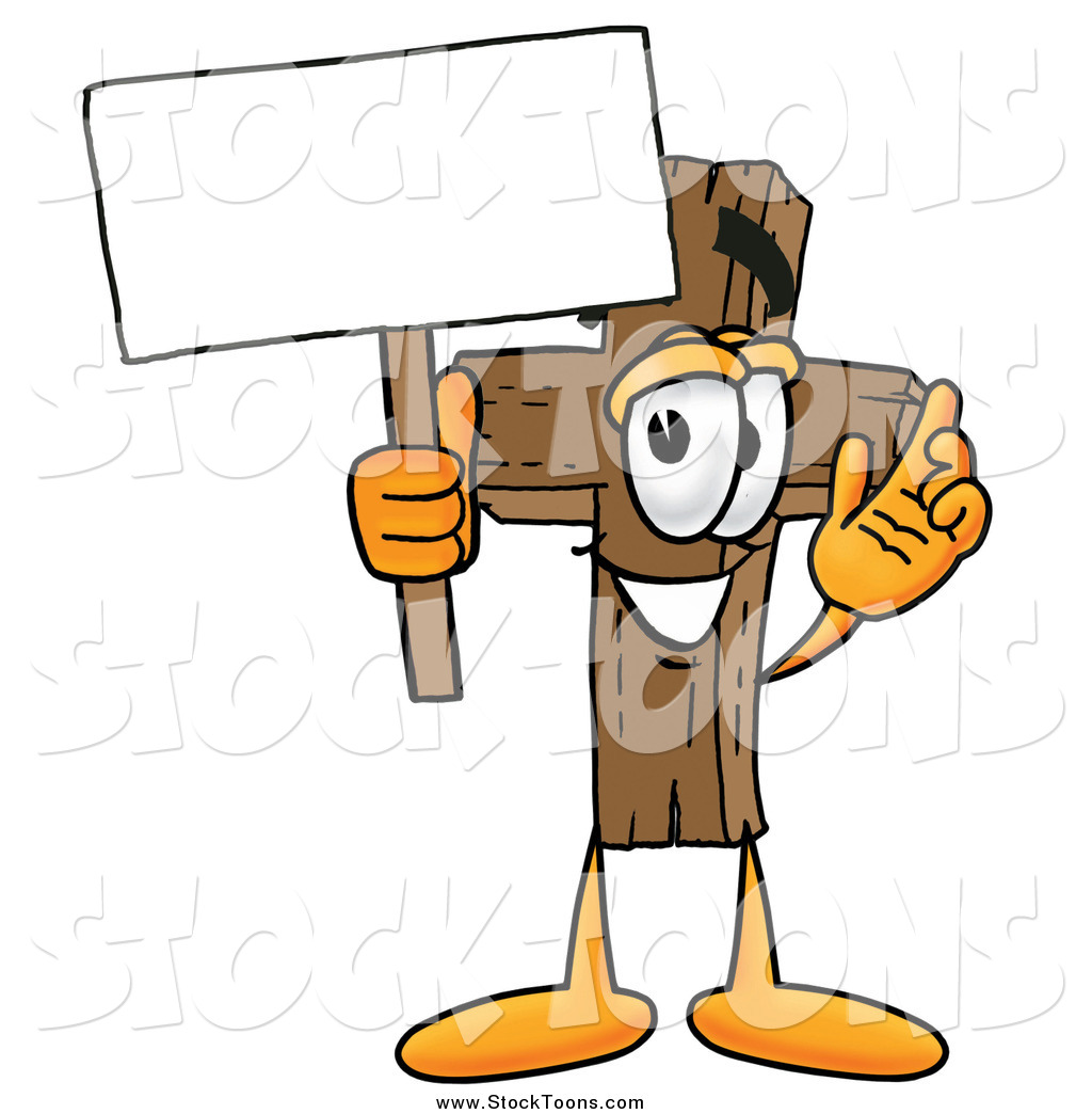 Cartoon Character Holding