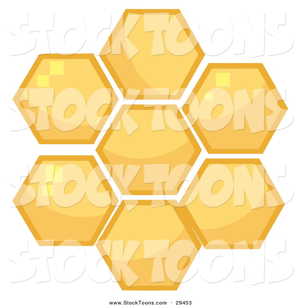 stock cartoon of honey combs by hit toon 29453
