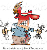 Stock Cartoon of a Angry Red Faced Man by Ron Leishman
