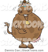 Stock Cartoon of a Anthropomorphic Laughing Cow by Djart