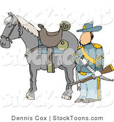 Stock Cartoon of a Armed Union Soldier by Djart