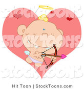 Stock Cartoon of a Baby Cupid by Hit Toon