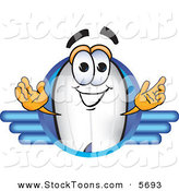 Stock Cartoon of a Blimp Mascot Cartoon Character Logo Looking Forward by Toons4Biz