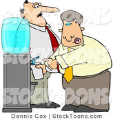 Stock Cartoon of a Boss Keeping a Close Eye on an Employee by Djart