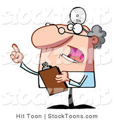 Stock Cartoon of a Bossy Male Senior Doctor by Hit Toon