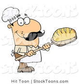 Stock Cartoon of a Bread Baker Man by Hit Toon
