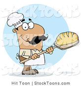 Stock Cartoon of a Bread Maker Man by Hit Toon