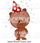 Stock Cartoon of a Brown Birthday Hamster by BNP Design Studio
