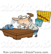 Stock Cartoon of a Business Man by Ron Leishman