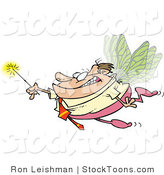 Stock Cartoon of a Business Man Office Fairy by Toonaday
