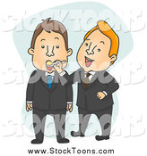 Stock Cartoon of a Businessman Feeding a Partner with a Spoon by BNP Design Studio