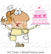 Stock Cartoon of a Cake Baker by Hit Toon