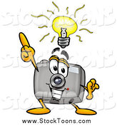 Stock Cartoon of a Camera with a Bright Idea by Toons4Biz