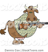 Stock Cartoon of a Camouflaged Cow by Djart