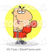 Stock Cartoon of a Cartoon Boxer by Hit Toon