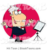 Stock Cartoon of a Cartoon Conducting Man by Hit Toon