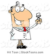 Stock Cartoon of a Caucasian Cartoon Dentist by Hit Toon