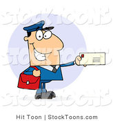 Stock Cartoon of a Caucasian Postal Worker by Hit Toon