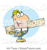 Stock Cartoon of a Caucasian Worker by Hit Toon