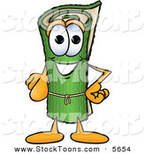 Stock Cartoon of a Cheerful Green Carpet Mascot Cartoon Character Pointing at the Viewer by Toons4Biz