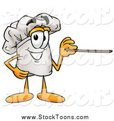 Stock Cartoon of a Chefs Hat Using a Pointer Stick by Toons4Biz