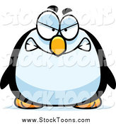 Stock Cartoon of a Chubby Angry Penguin by Cory Thoman