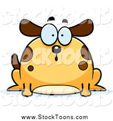 Stock Cartoon of a Chubby Surprised Dog Gasping by Cory Thoman