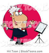 Stock Cartoon of a Conducting Man by Hit Toon