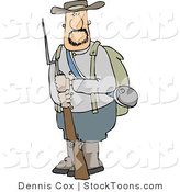 Stock Cartoon of a Confederate Army Soldier by Djart