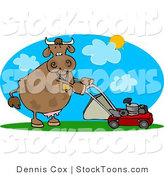 Stock Cartoon of a Cow by Djart
