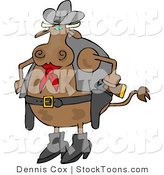 Stock Cartoon of a Cowboy by Djart