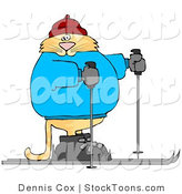 Stock Cartoon of a Cross Country Skier Cat by Djart