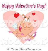Stock Cartoon of a Cupid Piggy by Hit Toon