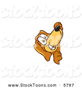 Stock Cartoon of a Curious Brown Dog Mascot Cartoon Character Peeping Around a Corner by Toons4Biz