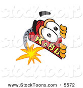Stock Cartoon of a Cute Dynamite Mascot Cartoon Character Peeking Around a Corner by Toons4Biz