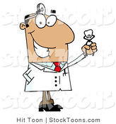 Stock Cartoon of a Dentist by Hit Toon
