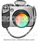 Stock Cartoon of a Digital SLR Camera by Djart