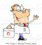 Stock Cartoon of a Doctor by Hit Toon