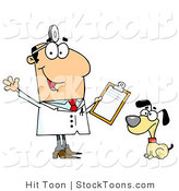 Stock Cartoon of a Dog Veterinarian Man by Hit Toon