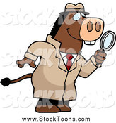October 2nd, 2014: Stock Cartoon of a Donkey Detective Searching with a Magnifying Glass by Cory Thoman