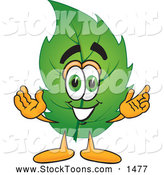 Stock Cartoon of a Eco Friendly Leaf Mascot Cartoon CharacterEco Friendly Leaf Mascot Cartoon Character by Toons4Biz