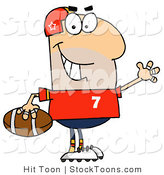 Stock Cartoon of a Football Player by Hit Toon